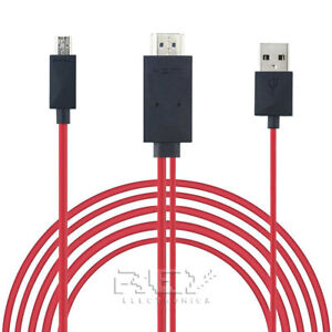 Mhl cable micro usb to hdmi and usb, hdtv, tv mobile! from spain! v314
