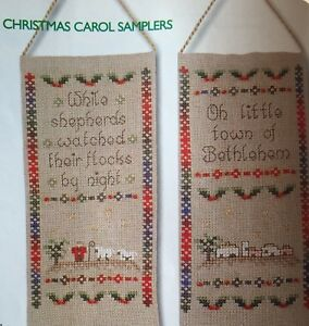 4 X Christmas Carol Samplers Cross Stitch Chart