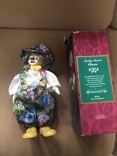 "Vintage Musical Wind-up Porcelain Clown Doll/Figurine - 13"" tall"