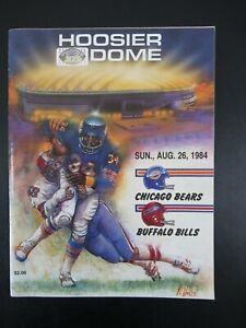 Vintage 1984 Hoosier Dome Indianapolis Bears vs Bills Football Program