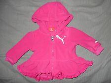 Puma Girls 3-6 M Pink Zip Up Coat