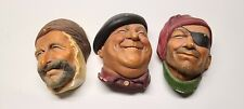 Lot 3 Bossons England Chalkware Heads