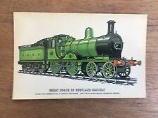 VINTAGE GREAT NORTH SCOTLAND RAILWAY 'GORDON HIGHLANDER' ILLUSTRATED POST CARD