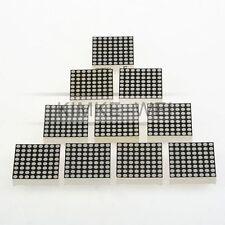 10x 3mm Rot 8x8 LED Anzeige Dot Matrix Display Punktmatrix Modul