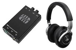 Audio Technica ATH-M70x Professional Studio Monitor Headphones ATHM70x+Amplifier