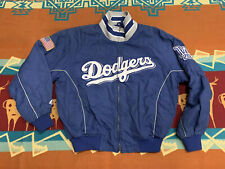RARE🔥 Majestic MLB Los Angeles Dodgers Authentic Warm Jacket Blue Sz M Men's