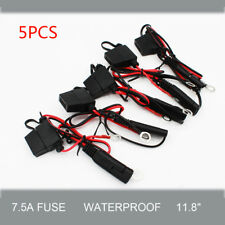 5Pcs Car Battery Charger Cable/Wire Ring Terminal Harness Quick Disconnect