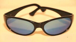 Ocean Waves Sierra Black Blue Mirrored Lens Sunglasses Italy
