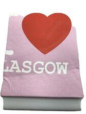 Pink I Love Glasgow T Shirt XXLNew ShopClearance
