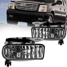 for 02-06 Cadillac Escalade Driving Clear Fog Light Lamps w/Bulbs Left & Right