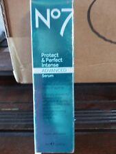 BOOTS No7 Protect & Perfect Intense Advanced Serum Tube 1 oz 30ml NEW