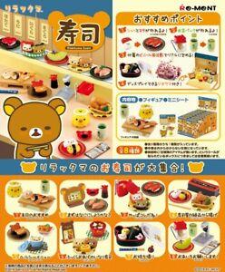 Re-Ment Miniature Sanrio San X Rilakkuma Sushi Full set 8 pieces Rement