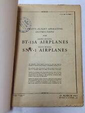 1943 BT-13A Army /SNV-1 Navy Original Pilot's Flight Operating Instructions