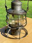 Antique Armspear L.V. R.R. Lackawanna Railroad Lantern - Embossed Case & Globe