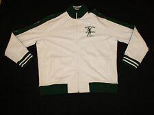 New Men Ralph Lauren Polo White Green Full Zip LawnTennis Singles Jacket Size XL