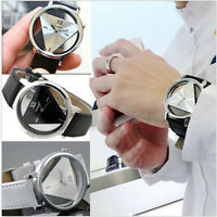 NEU Sport Herrenuhr Automatik Uhr Leder Armband Uhren Quarz Bracelet Damenuhr