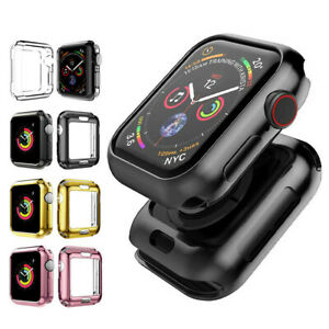 2 Pack Full Body TPU Cover Case For Apple Watch Series 6/5/4/3/2/1 38/40/42/44mm