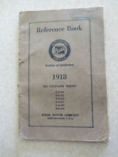 Original 1918 Buick 6 cylinder series automobile owner's manual