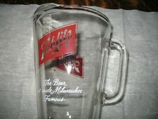 """New listing Vintage Schlitz Beer Glass Pitcher """"The Beer That Made Milwaukee Famous"""""""
