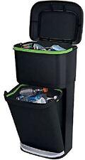 2-Unit Recycling Garbage Bin Double Decker Trash Can Liner Lock Waste Basket 31