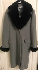 BCBG MAXAZRIA wool coat with fur trim