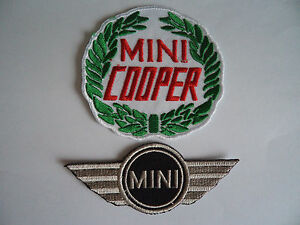 2 Mini Cooper Patches Iron / Sew On Mechanic Overall Patch Owners Club