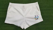 PANTALONCINO SHORTS LOTTO WHITE JERSEY TENNIS CASUAL VINTAGE ANNI '90 RARE T10