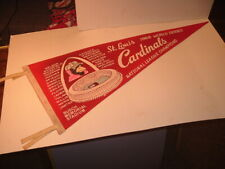 1968 World Series St. Louis Cardinals Scroll Soft Felt Red Pennant
