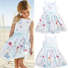 Gift Kids Girls Strap Children's Clothing Floral Butterfly Print Princess Dress