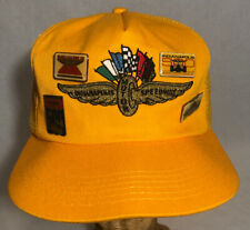 VTG Indianapolis Motor Speedway Yellow Snapback Trucker Hat With Pins