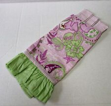My Baby Sam Paisley Lime Green Purple Orchid Stripe Tab Top Valance Nursery New