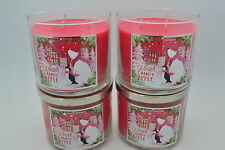 4 BATH & BODY WORKS WINTER CANDY APPLE  SCENTED CANDLE 14.5 oz 3 wick