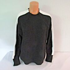 Victoria's Secret Cotton Mockneck Sweater Shirt Top Black/White Stripe L NWOT