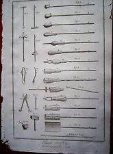 21-38-39 Gravure 18e Diderot et d'Alembert glaces opé progressives et outils