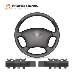DIY Black Leather Suede Steering Wheel Cover for Toyota Land Cruiser Prado 120
