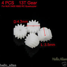 4PCS 13T Motor Gear Set For MJX X400 X600 RC Quadcopter Drone Gear Spare Parts