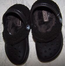 NWOT KIDS MAMMOTH CROCS DARK BROWN CLOG SHOES SZ Child 10 - 11