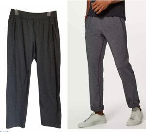 "Lululemon Men's DISCIPLINE PANTS Luon Heathered Black Gray Size Large 32"""