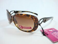Foster Grant Brown Fashion Sunglasses Tiger Windsor Metal charm TD0311 New