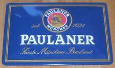 """""""PAULANER"""", BLECHSCHILD, Weißbier/München"""