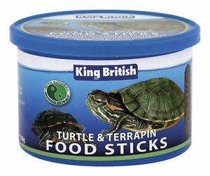 2 X KING BRITISH TURTLE AND TERRAPIN FOOD STICKS 110g COMPLETE & BALANCED DIET