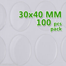100PCS 30*40mm Oval Transparent Epoxy Domes Resin Cabochon Sticker C1905