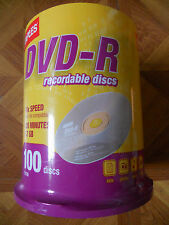Staples DVD - R 100 on a spindle.