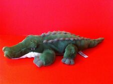 "CROCODILE PLUSH TOY AURORA WORLD GREEN BEAN BAG STUFF ANIMAL GATOR 20"" ALLIGATOR"
