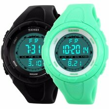 Fashion Lady Boy Girl Waterproof Date Digital LED Sport Electronic Wrist Watch