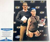 "AEW ""Librarian"" Leva Bates Autographed 8X10 Photo Signed WWE NXT Beckett BAS COA"