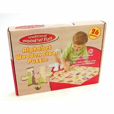 Traditional wood 'n' fun Giant Alphabet Wooden Floor Puzzle 3yrs+