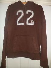 Mens Hollister Brown Cotton Hoodie Size Large