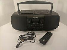 SONY CFD-S33 CD RADIO CASSETTE PLAYER COMPLETE WITH REMOTE + CABLE