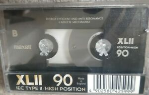 MAXELL XLII 90  HIGH POSITION TYPE II CASSETTE  MADE IN   ENGLAND